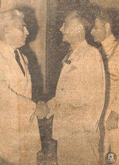 high commissioner paul v mcnutt greets president manuel l quezon presidents