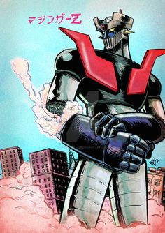 Mazinger Z Drawing 111 Best Mazinger Z Images Super Robot Caricatures Highlight