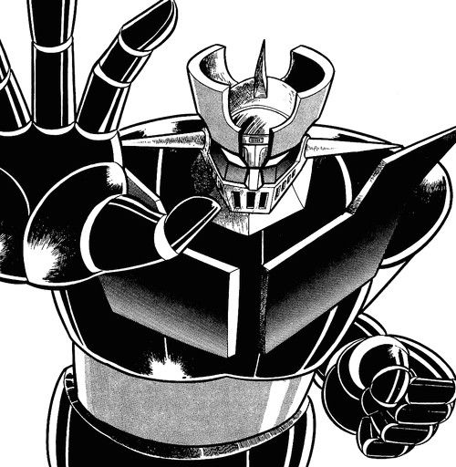 mazinger z can become either a god or a devil with whoever is piloting the pilder acting as the brain which intern acts as the mechs kokoro which is