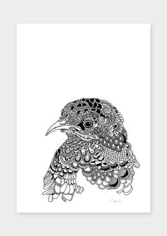 high quality digital print of original hand drawn illustration on a 300gsm mohawk ultra fine