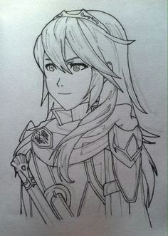 lucina fire emblem awakening prepped for shading ren altair a my drawings