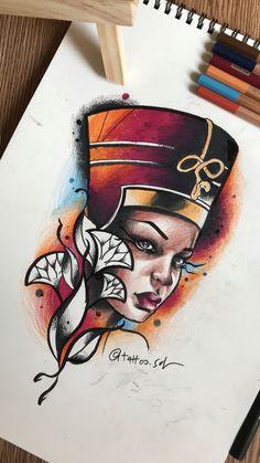 nefertiti tattoo art by faisal al lami tattoo sal tattoos tattooart