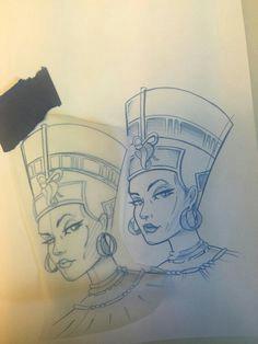 nefertiti tattoo egyptian queen tattoos egyptian goddess tattoo bastet goddess african sleeve tattoo