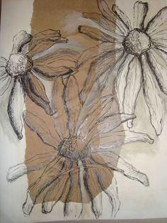 observational drawing experimenting with pencil pen paint and stitch i could draw and experiment with drawing dead or alive flowers