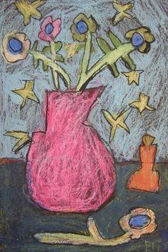 oil pastel still life inspired by van gogh artist van gogh 5th grade art