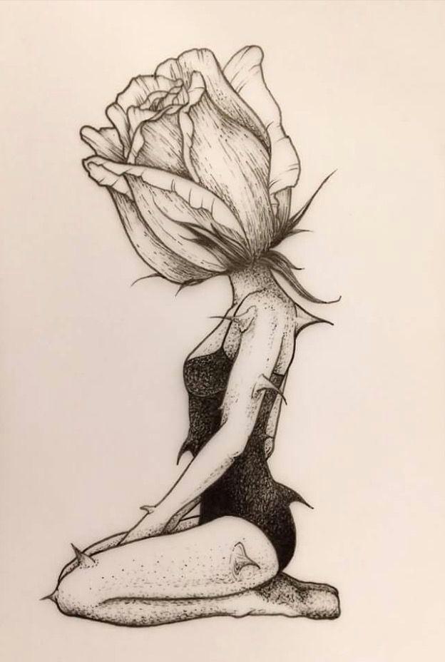 One Drawing Of A Girl La Bigotta Illustration One Drawings Art Art Drawings