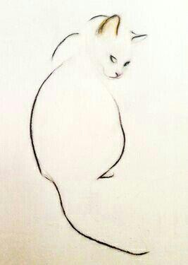 art cat outline tattoo tiny cat tattoo cat tattoos easy cat drawing