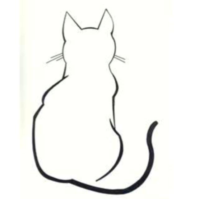 sitting cat sketch more
