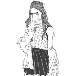 we heart it girl drawings outline drawings outline art tumblr girl drawing
