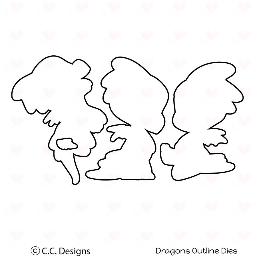 cc designs dragons outline die