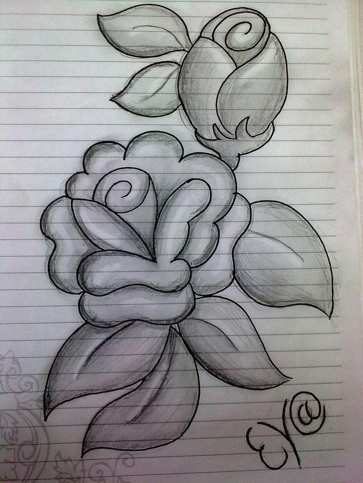 932e9a5ea405c7b26d010e15a9099bdf flower drawing in pencil easy pencil drawings jpg