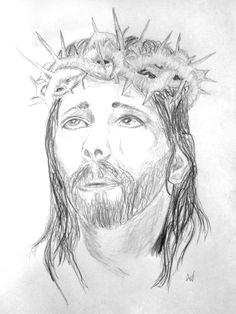 pencil drawing of jesus christ