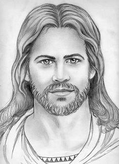 jesus drawing pencil