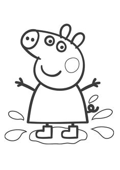 peppa pig coloring page could enlarge for group coloring