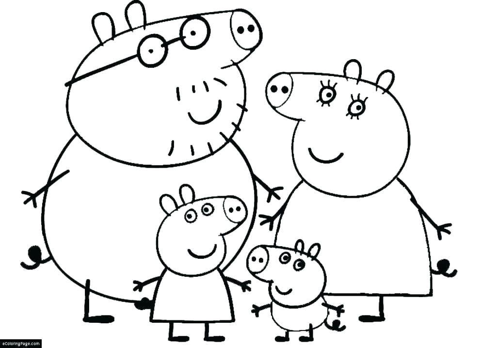 peppa pig printable coloring pages fresh pigs drawing for kids at getdrawings ideas peppa pig printable