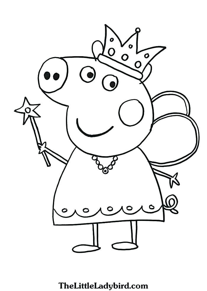 colouring pages peppa pig nlli coloring
