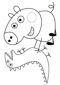 print coloring image peppa pig coloring pagescoloring pages for