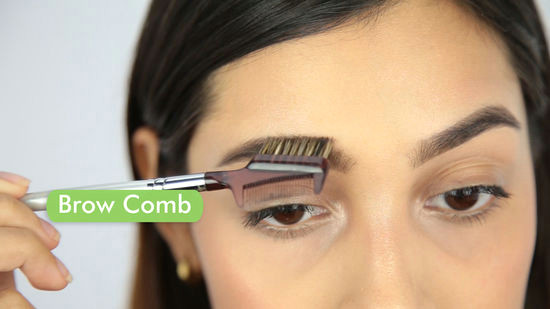 use a brow comb