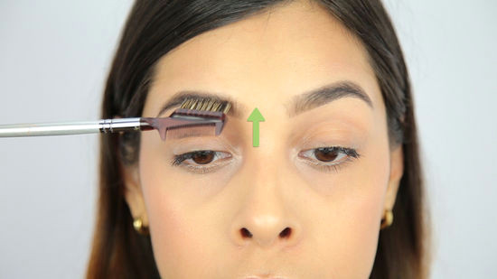 tweezing and filling your brows