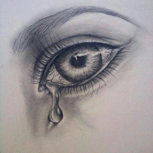 crying eye drawing