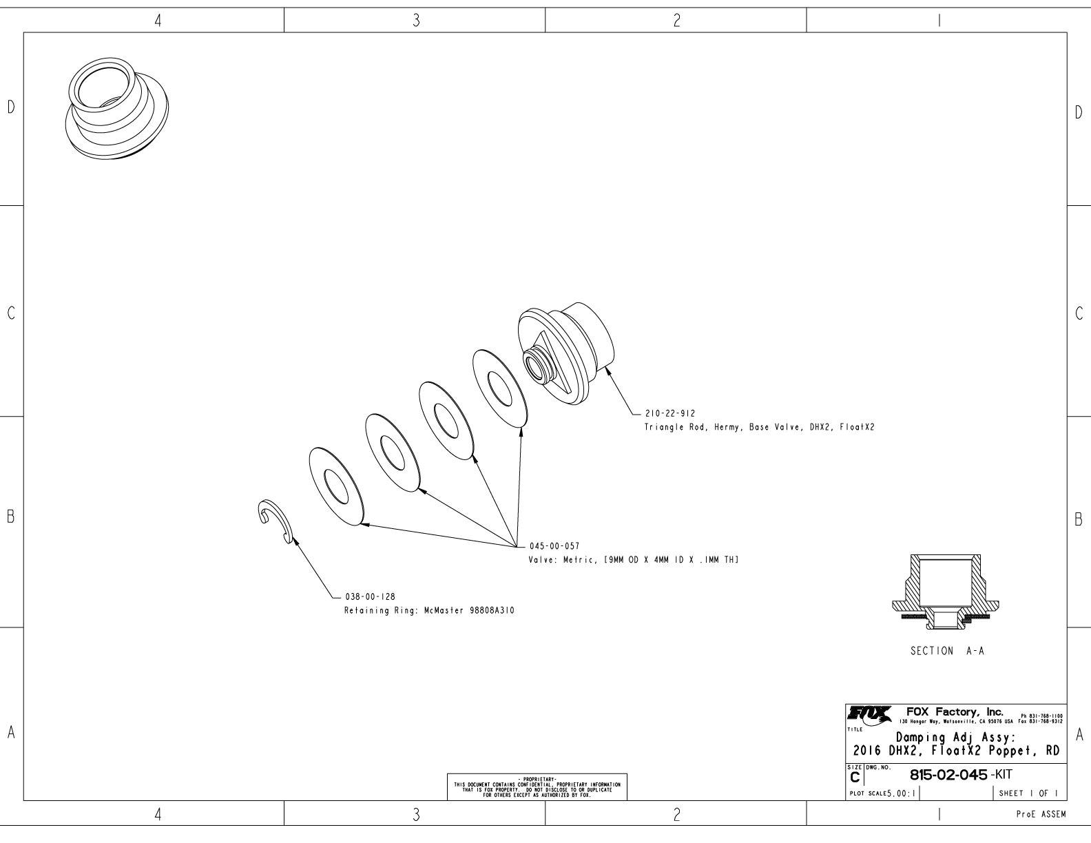 815 02 045 kit damping adj assy 2016 dhx2 floatx2 poppet rd