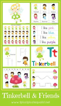 free tinkerbell amp friends printable pack preschool education preschool themes teaching kids