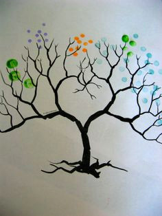 q tip painting tree