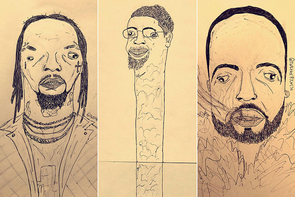 this australian artist s hilarious drawings of rappers are going viral