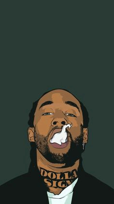 champagnemami03 swag cartoon rapper art supreme wallpaper hip hop art mobile wallpaper