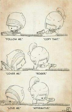 cute comics cute love i love you gamer couple paintball funny