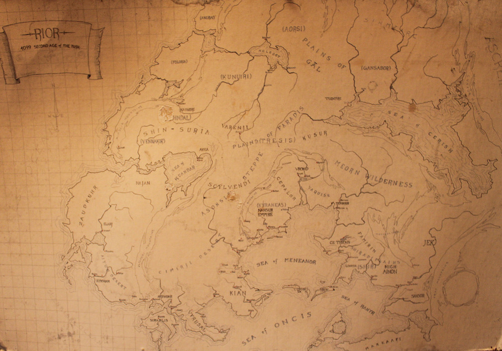 the orginal map of what would become r scott bakker s world of the second apocalypse rscottbakker earwa epicfantasy r scott bakker