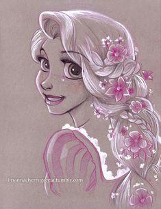 art disney ariel little mermaid sleeping beauty tinkerbell anna frozen princess aurora elsa alexandra a rapunzel drawing