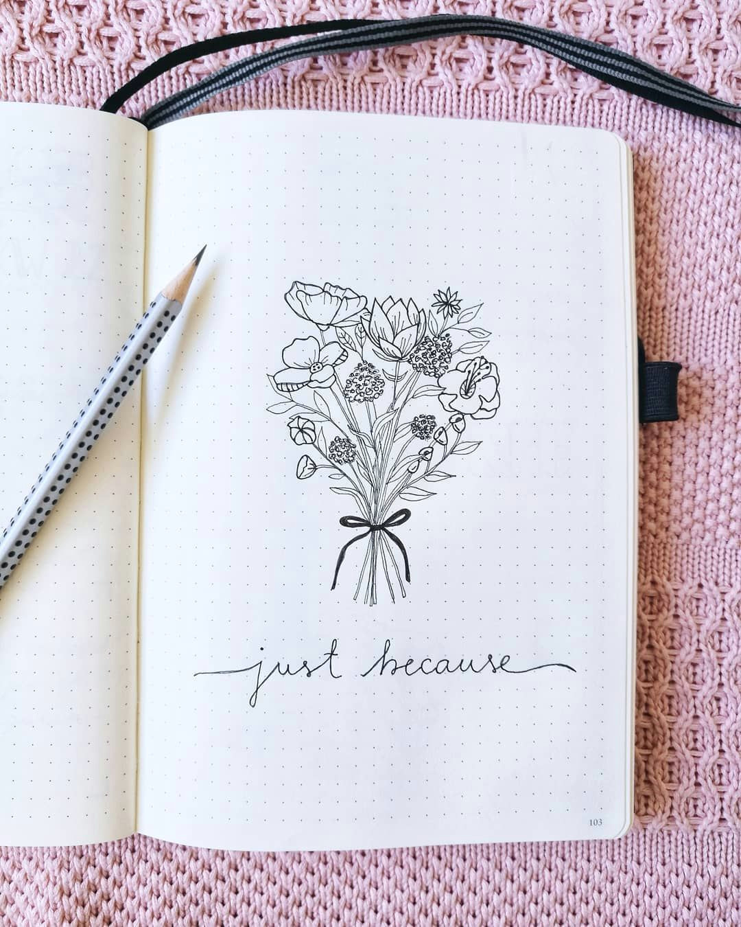 bullet journal drawing idea flower bouquet drawing vedi bits and pieces