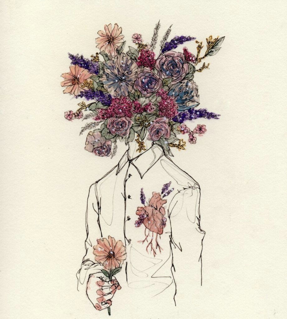 love and freedom flower bouquet drawing flower drawing tumblr drawings of flowers flower