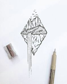 111 cool things to drawi drawing ideas for an adventurer s heart waterfall tattoo