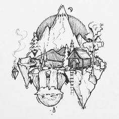 111 cool things to drawi drawing ideas for an adventurer s heart waterfall sketch