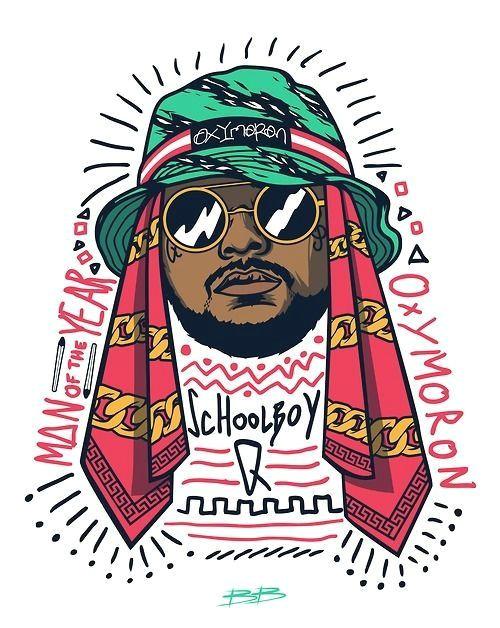 trill art dope art vector art collages schoolboy q rapper art