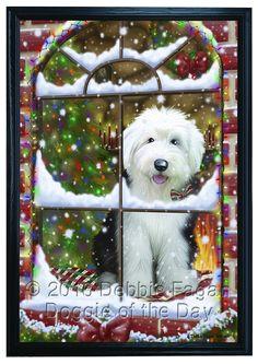 christmas sheepie old english sheepdog christmas paintings xmas christmas art christmas ideas