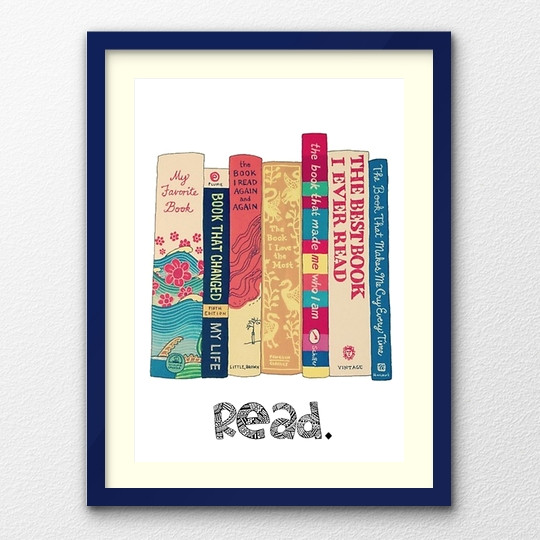 a clever poster read the book spines