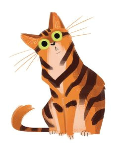 daily cat drawings 510 orange cat