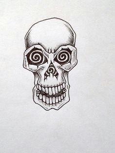 simple skull tattoos basic skull tattoo by