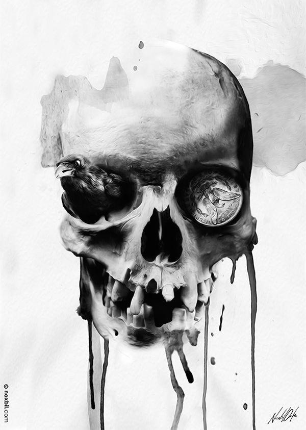 Skull Drawing by Artist Digital Skull Illustrations by Noxbil Artists that Inspire Skull
