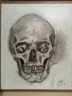 original charcoal skull drawing on wood by jeff eiswerth human skull charcoal drawings painting