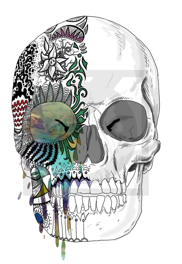 candied skull drawing love the mixture of charcoal and water color would make a nice tattoo