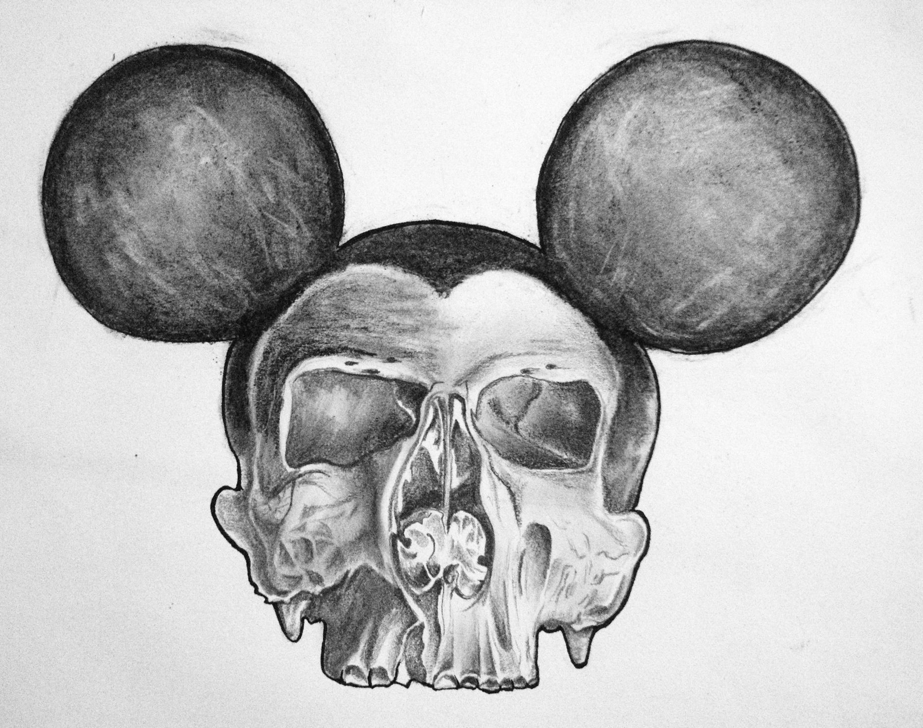 dead mouse drawing pencil charcoal