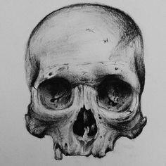 drawing skull pencil tattoo on instagram