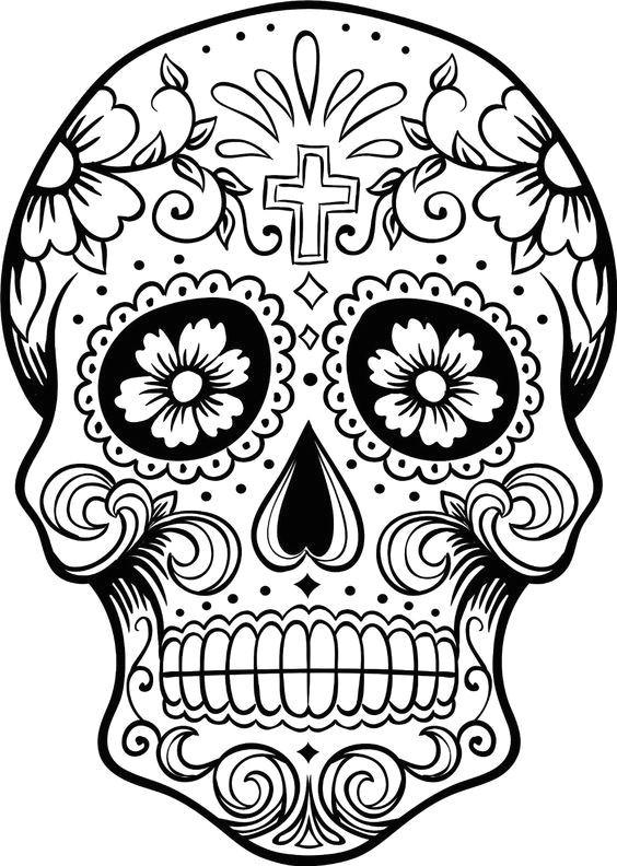 ca digo c 028 printable coloring pages sugar skulls sugar skull pumpkin stencil