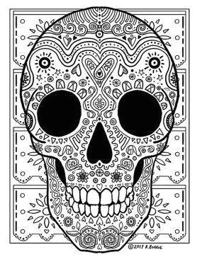 simple coloring pagescoloring pages for girlscoloring bookprintable adult coloring pagesfree coloringsugar skull designskull tattoossugar skullssugar skull