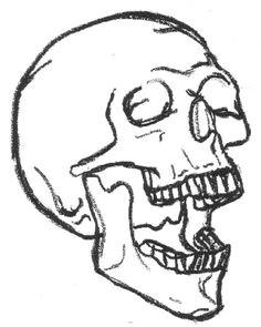 easy skull easy skull drawings gothic drawings simple skull drawing skull sketch