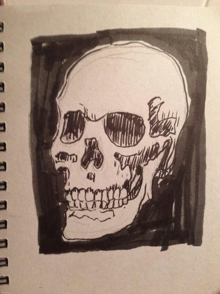 254 series365 comic style skull sketch
